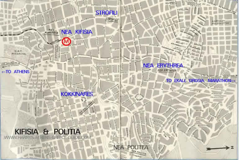 map kifisia politia athens greece