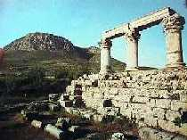 greece greek peloponnnese ancient acro corinth